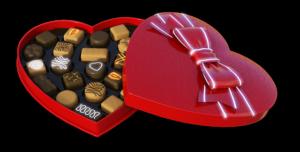 Ideje za poklon za Valentinovo- crvena bombonjera u obliku srca